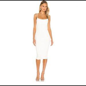 Bailey Midi Dress in White Nookie MEDIUM